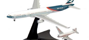 Airbus A330 DC-3 Cathay Pacific Set Herpa Collectors Model Scale 1:400 562089 AE